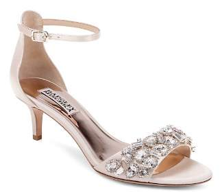 215 Badgley MischkaWomen s Lara Embellished Kitten Heel Sandals 00866396f7d