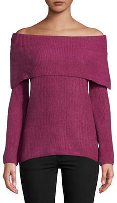 MANGUUN Long-Sleeve Off-The-Shoulder Sweater