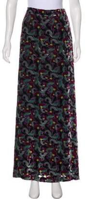 Diane von Furstenberg Floral Maxi Skirt