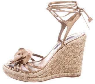 Ralph Lauren Metallic Lace-Up Sandals