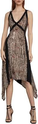 BCBGMAXAZRIA Sandy Dots Asymmetric A-Line Dress