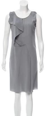 CNC Costume National Sleeveless Knee-Length Dress Grey Sleeveless Knee-Length Dress