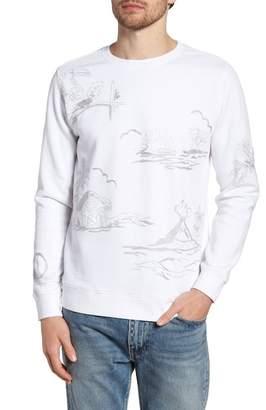 Bonobos Slim Fit Chain Stitch Crewneck Sweatshirt