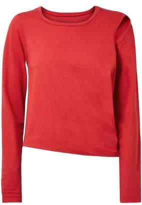 MM6 MAISON MARGIELA Convertible Cutout Stretch Cotton-jersey Top