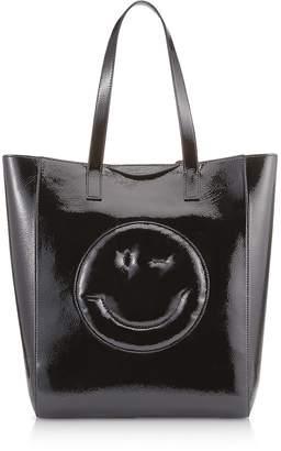 Anya Hindmarch Black Naplak Chubby Wink Tote Bag