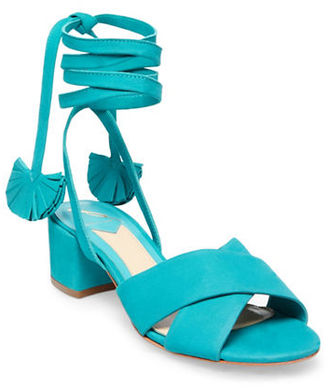 B Brian Atwood Astor Nubuck Leather Sandals $155 thestylecure.com
