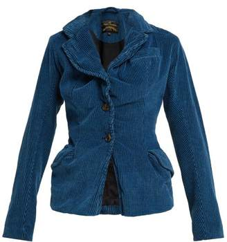 Vivienne Westwood Twisted Corduroy Blazer - Womens - Blue