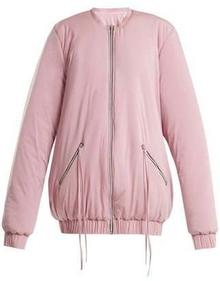 Charli cohen Cohen - Bomber 2s Oversized Jersey Performance Jacket - Womens - Light Pink