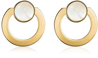 Vita Fede Moneta Open Mother Of Pearl Earrings