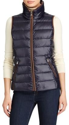 Women's Lauren Ralph Lauren Quilted Down Vest $140 thestylecure.com