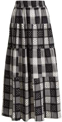 Ace&Jig Mojave panelled checked cotton skirt