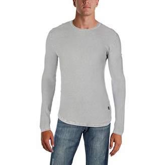 Buffalo David Bitton Men's Wacity Long Sleeve Crewneck Washed Solid Fashion Sweater