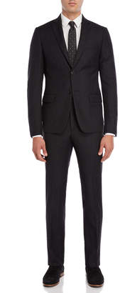 John Varvatos Two-Piece Charcoal Pinstripe Suit