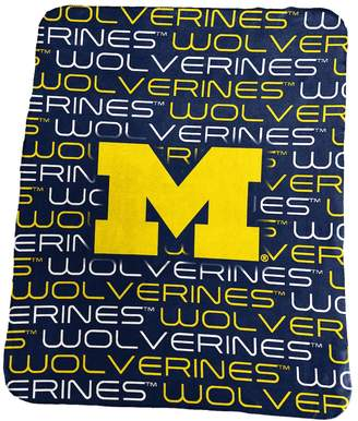 NCAA Logo Brand Michigan Wolverines Classic Fleece Blanket