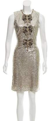 Naeem Khan Embellished Mini Dress