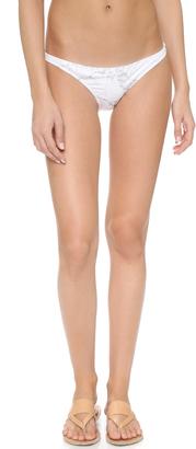 KORE SWIM Maia Gray Marble Bikini Bottoms $97 thestylecure.com