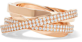 Repossi Technical Berbère 18-karat Rose Gold Diamond Ring
