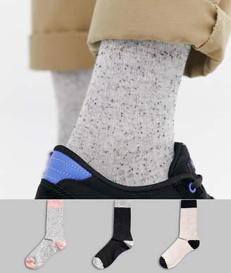 Asos DESIGN textured socks in nep 3 pack