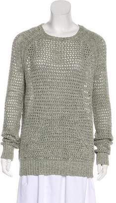 ATM Anthony Thomas Melillo Lightweight Rib Knit Sweater