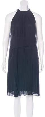 Lutz Huelle Pleated Chiffon Dress w/ Tags