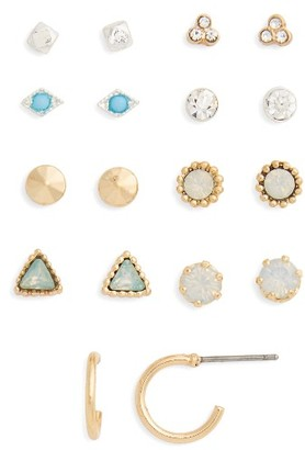 Women's Bp. 9-Pack Crystal Stud Earrings $19 thestylecure.com