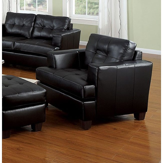AcmeAcme Black Bonded Leather Chair