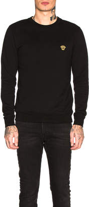 Versace Basic Medusa Sweatshirt in Black | FWRD