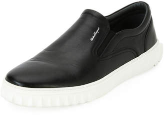 Salvatore Ferragamo Men's Calfskin Leather Skate Shoe