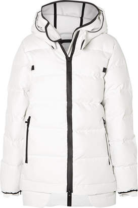TEMPLA - 3l Quilted Cotton-blend And Tech-jersey Down Coat - White