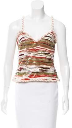 Valentino Sequin-Embellished Sleeveless Top