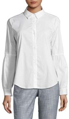 f102b1f8 Pleated Button Down Womens Shirt - ShopStyle