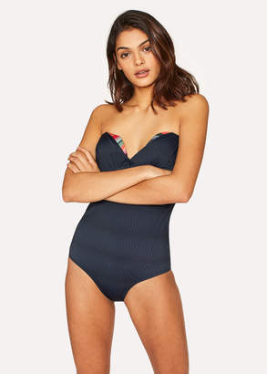 Paul Smith No.9 - Women's Navy Wrap Bandeau Swimsuit