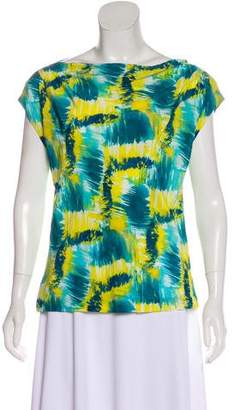 Trina Turk Watercolor Silk Blouse