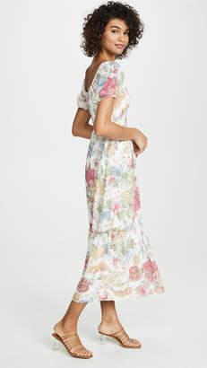 WAYF Tanya Ruffle Hem Maxi Dress