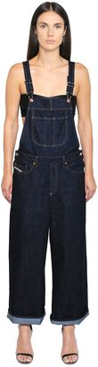 Wide Cotton Denim Overalls $228 thestylecure.com