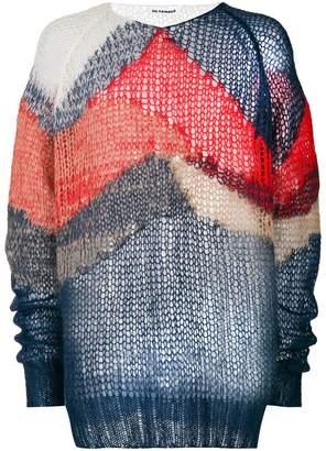 Jil Sander wave print sweater