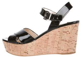 Prada Patent Leather Platform Wedges