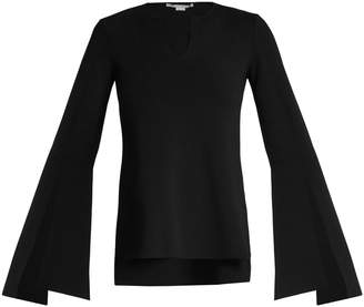Stella McCartney Flared-sleeve fine-knit top