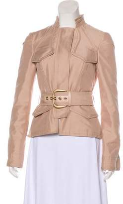 Gucci Ruffle-Accented Zip-Up Jacket