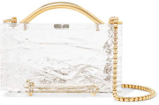 clear L'AFSHAR - Eugene Crushed Ice Acrylic Clutch