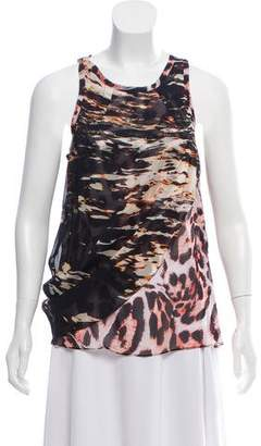 Nicole Miller Sleeveless Printed Blouse w/ Tags