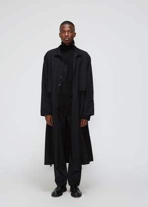 Yohji Yamamoto Black & White Series Gabardine Coat