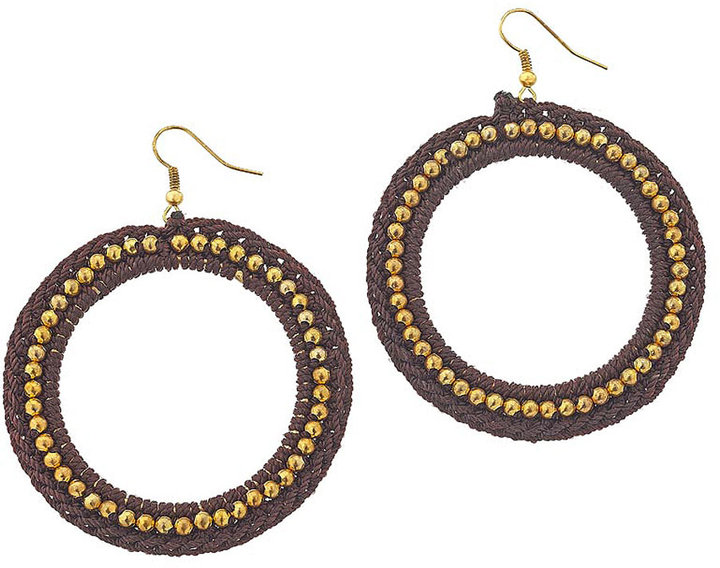Fabric and Bead Hoops