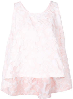 Rochas floral flared sleeveless top