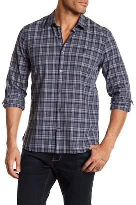 John Varvatos Plaid Slim Fit Point Collar Button Down Shirt