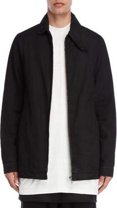 Rick Owens Black Longline Denim Coat