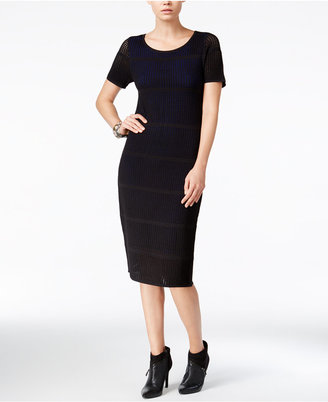 Bar III Perforated Bodycon Dress, Only at Macy's $99.50 thestylecure.com