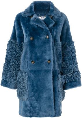 Desa 1972 double breasted fur coat