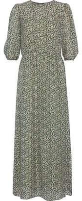 Vanessa Bruno Ijka Floral-Print Burnout Chiffon Maxi Dress