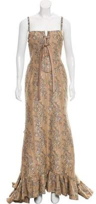 Valentino Floral Brocade Gown